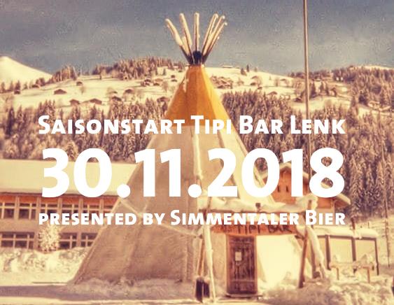 Start zur 5. Saison vom Simmentaler Bier in der Tipi Bar Lenk